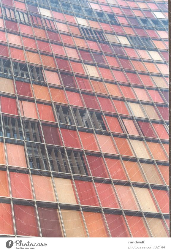 Architecture Facade High-rise Perspective Venetian blinds
