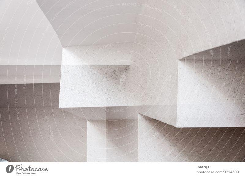 corners Elegant Style Design Interior design Architecture Sharp-edged Bright Crazy White Perspective Sterile Geometry Colour photo Exterior shot
