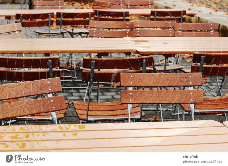 Wet table sets in restaurant Food Nutrition Drinking Lifestyle Luxury Leisure and hobbies Tourism Trip Furniture Party Garden Park Wood Metal Crouch Emotions