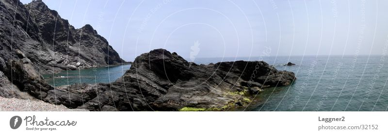 Ocean Black Large Europe Panorama (Format) Cliff Rocky coastline