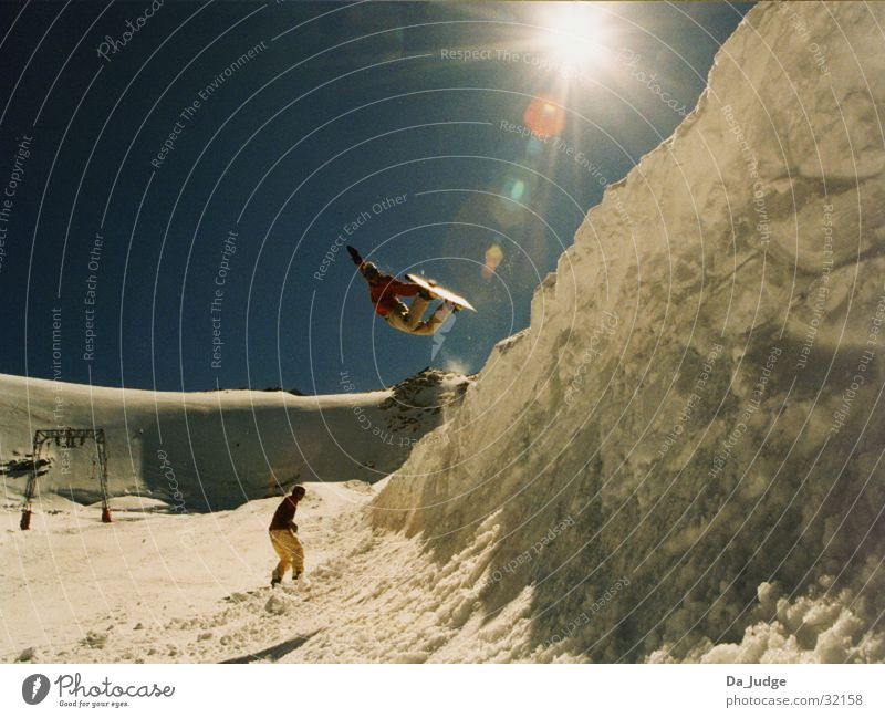 half pipe air Winter Halfpipe Sölden Sports Mountain Snow Air Snowboarder Trick jump