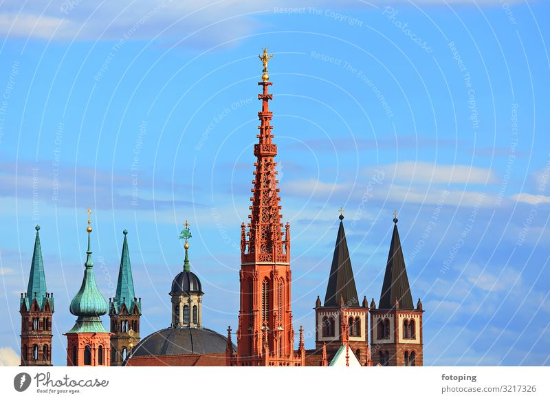 Vacation & Travel Blue Town Green Sun Architecture Religion and faith Building Germany Tourism Trip Weather Europe Church Esthetic Historic