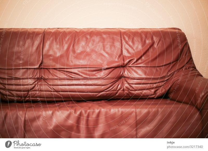 old and crumpled Style Living or residing Flat (apartment) Sofa Old Hideous Brown Old fashioned Wrinkles The eighties Nineties Designer furniture