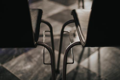 Empty chairs side by side Side by side Chair distance Deserted Colour photo Interior shot Day Close-up Detail Shallow depth of field Abstract empty space