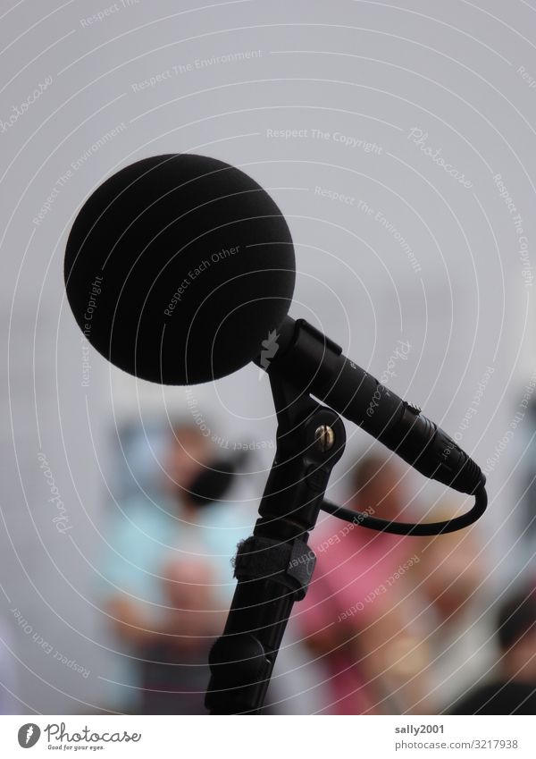 clear throat... Entertainment electronics Microphone Outdoor festival Listen to music To talk Round Black Communicate Live Loud Volume Sound engineering