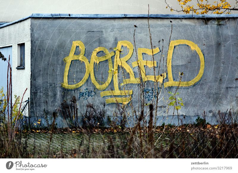 bored Boredom Berlin City Social Town Scene Vicinity City life Suburb Graffiti Tagging (graffiti) Keyword Word Tagger Vandalism Characters Write Typography