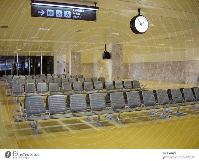 Yellow Airplane Signs and labeling Europe Aviation Bench Chair Clock Airport Seating Departure Departure lounge