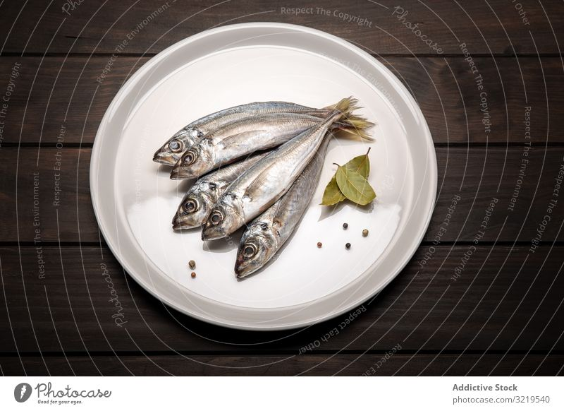 Fresh mackerel fish on plate ready to cook. Raw seafood fresh raw ingredient healthy product delicious dinner gastronomy bream cold nutrition industry