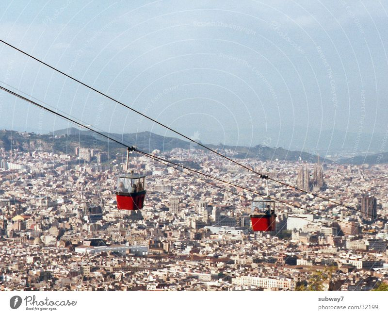 Sky City House (Residential Structure) Mountain Europe Spain Barcelona Cable car