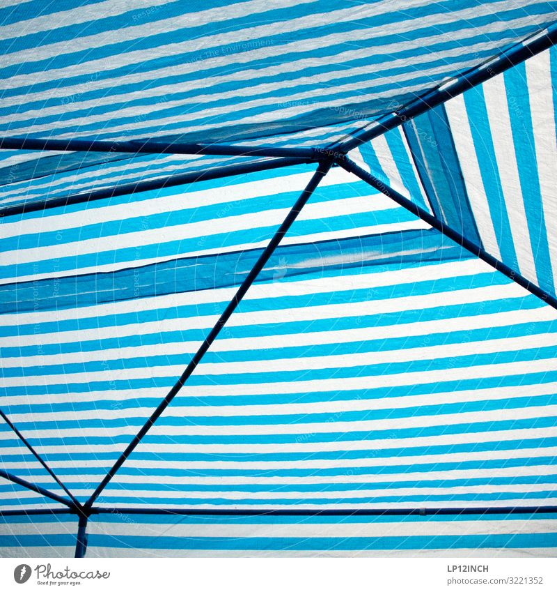 Vacation & Travel Summer Blue White Feasts & Celebrations Party Rain Weather Birthday Climate Protection Safety Roof Stripe Network Plastic