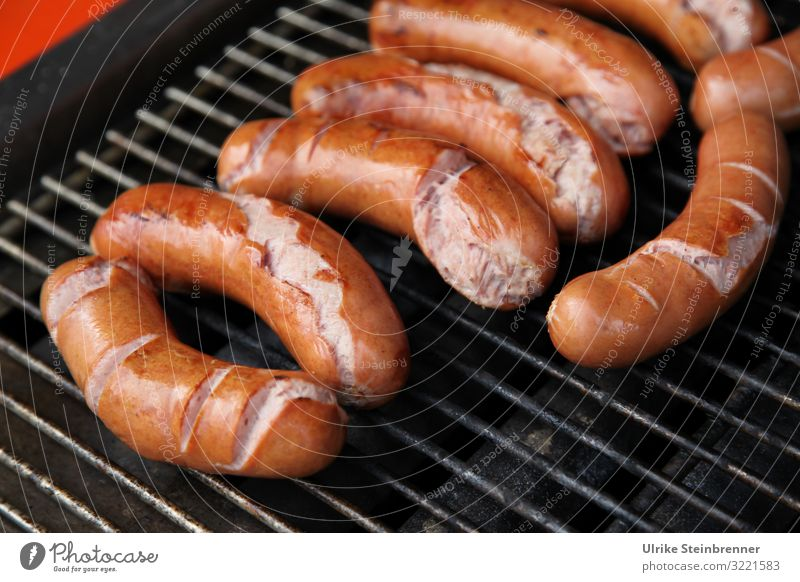 angrillas Food Sausage Nutrition Lunch Healthy Eating Summer Summer vacation Party Feasts & Celebrations Barbecue (apparatus) Metal Lie Fat Fragrance Delicious