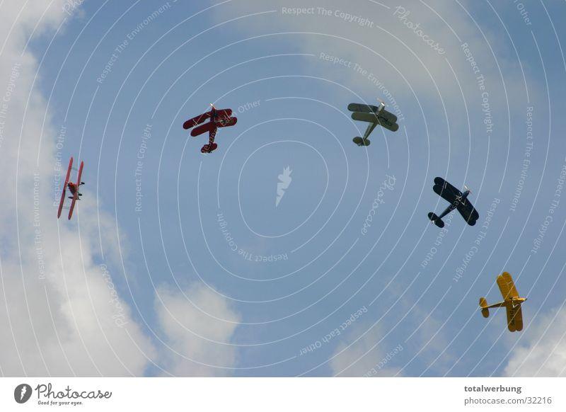 aerobatics Clouds Airplane Aerobatics Aviation Double-decker bus Movement Stampe