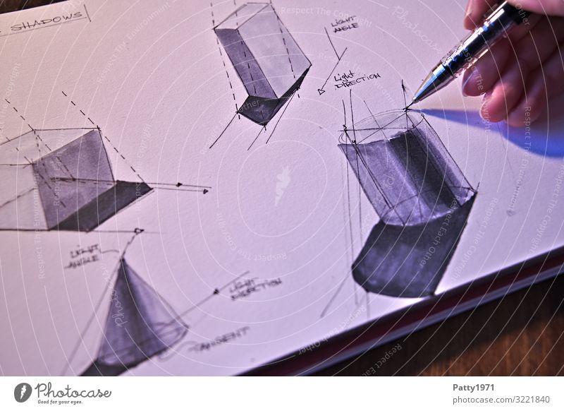 Hand Far-off places Art Technology Arrangement Creativity Perspective Fingers Draw Physics Pen Geometry Symmetry Cube Precision Complex