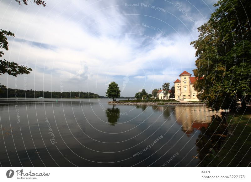 In the footsteps of Fontane Landscape Water Sky Clouds Beautiful weather Plant Tree Park Coast Lakeside Rheinsberg Village Small Town Old town Palace Castle