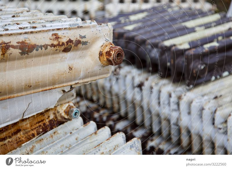 Scrap_radiators Berlin Heater Heating Metal Old Energy Sustainability Environment Environmental pollution Environmental protection Scrap metal Trash
