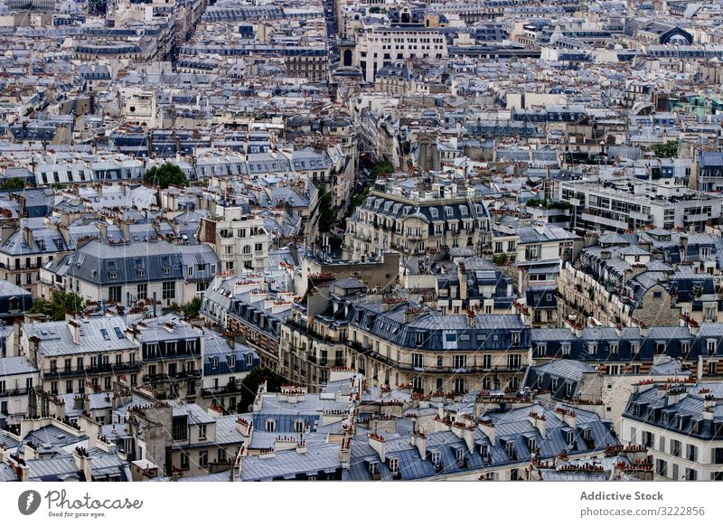 Densely populated old city city town dense architecture aged roof urban building residential house rooftop aerial block many window geometric background