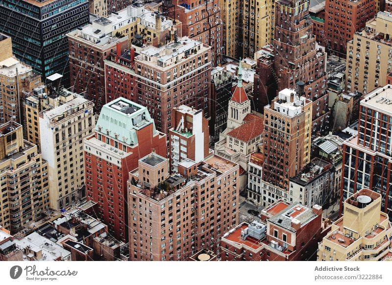 Architecture of modern Manhattan borough architecture manhattan residential neighborhood infrastructure rooftop building dense estate apartment urban city nyc