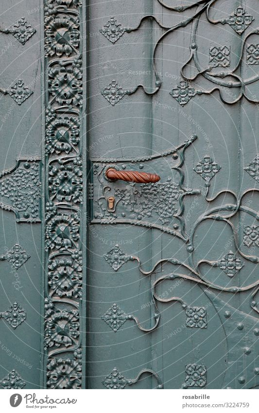 beautiful old squiggled church door | old Entrance Welcome Old Church door Wooden door Come Close completed keep away Protection Private Personal door handle