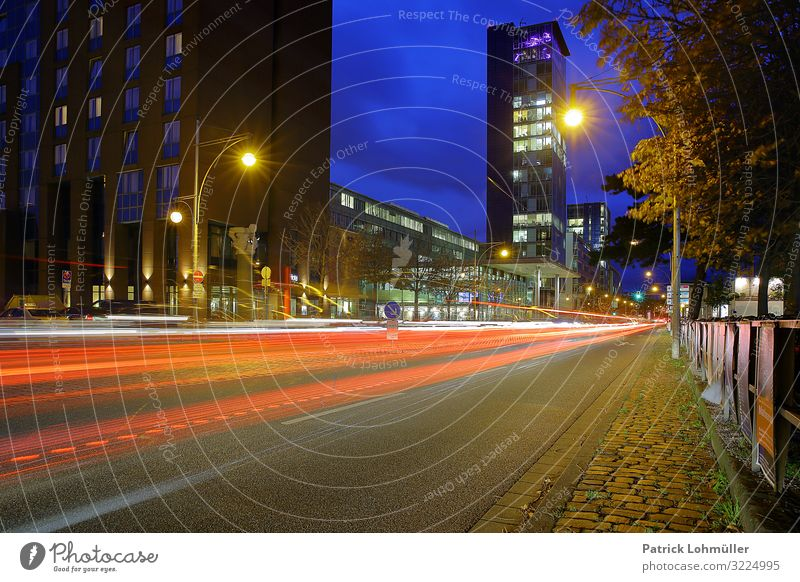 Sky Blue Town Street Architecture Environment Building Germany Office Car Transport Illuminate High-rise Skyline Manmade structures Downtown