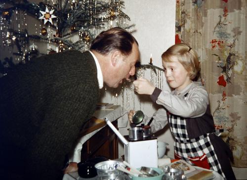 taster Children's game Living or residing Flat (apartment) Kitchen Drape Christmas tree Christmas & Advent Masculine Feminine Girl Man Adults Father 2
