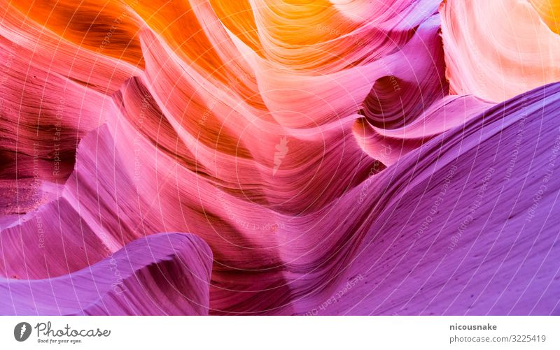 Antelope Canyon Vacation & Travel Tourism Summer Environment Nature Landscape Sand Rock Waves Stone Esthetic Bright Natural Multicoloured Colour america Arizona