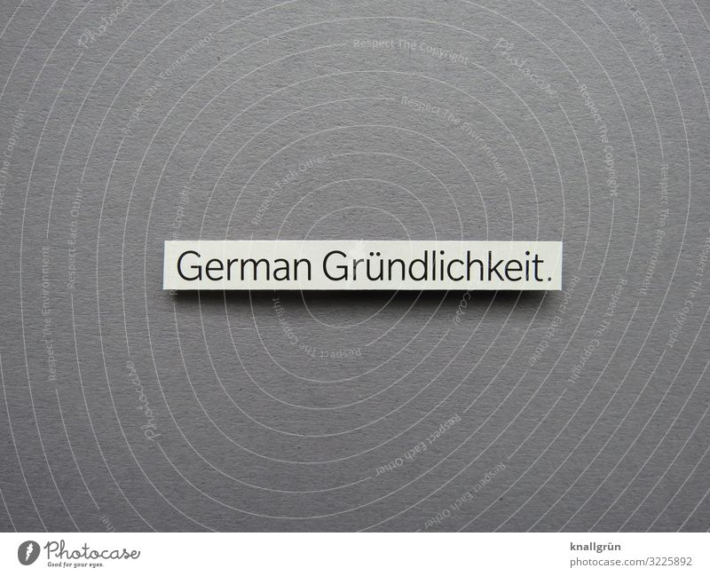 German thoroughness. Characters Signs and labeling Communicate Success Sustainability Gray White Emotions Dependability Prompt Conscientiously Diligent