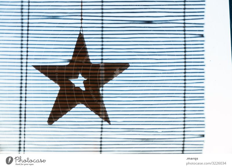 Blurred star with warp corner Living or residing Christmas & Advent Window Decoration Roller shutter Line Star (Symbol) Hang Authentic Simple Moody Belief