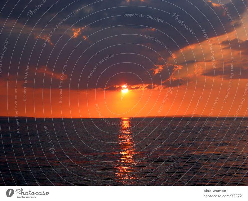 Water Sun Dusk