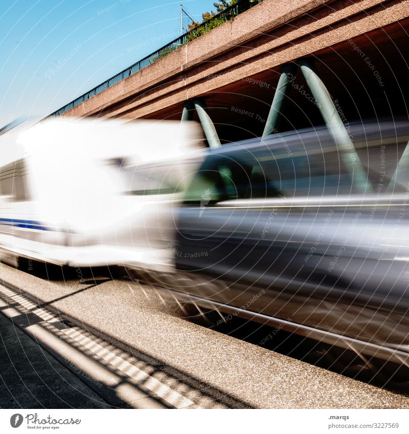 travel Transport Means of transport Traffic infrastructure Road traffic Motoring Street Highway Car Driving Speed Mobility Motion blur Future Long exposure Line