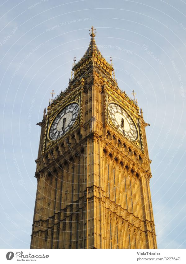 Big Ben Vacation & Travel Tourism Clock Capital city Downtown Tower Manmade structures Architecture Tourist Attraction Landmark Stone Historic Tall Blue Gold