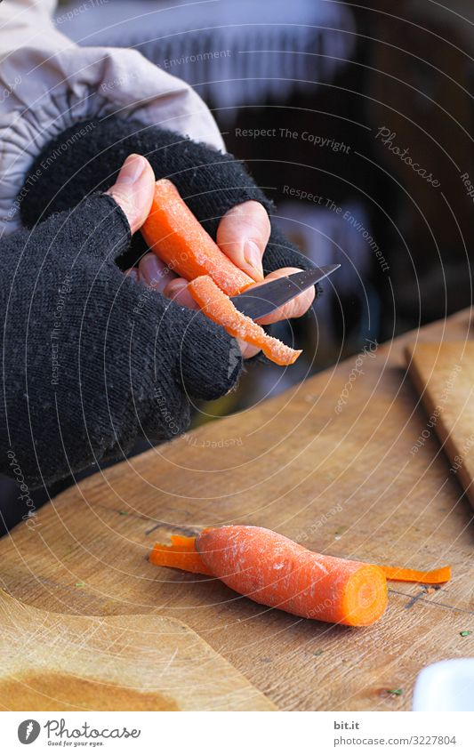 Caution: peel carrots sharply l Food Vegetable Soup Stew Nutrition Organic produce Vegetarian diet Diet Knives Work and employment Profession Cook Delicious