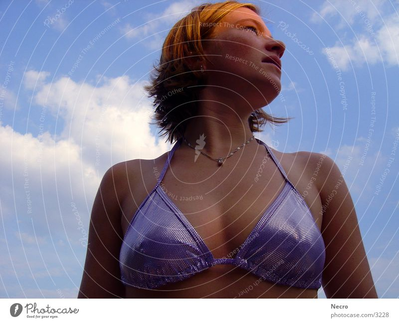 Woman Sky Sun Summer Eroticism Bikini Human being