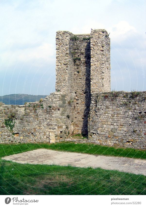wall Wall (barrier) Architecture Stone Vantage point Tower