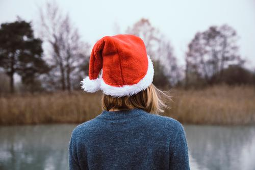 Merry Christmas Contentment Relaxation Calm Tourism Winter Feasts & Celebrations Christmas & Advent New Year's Eve Woman Adults Back 1 Human being Nature Autumn