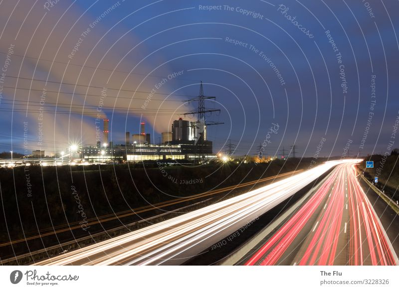 under current Vacation & Travel Electricity generating station Energy industry Environment Clouds Night sky Climate change Industrial plant Factory Transport
