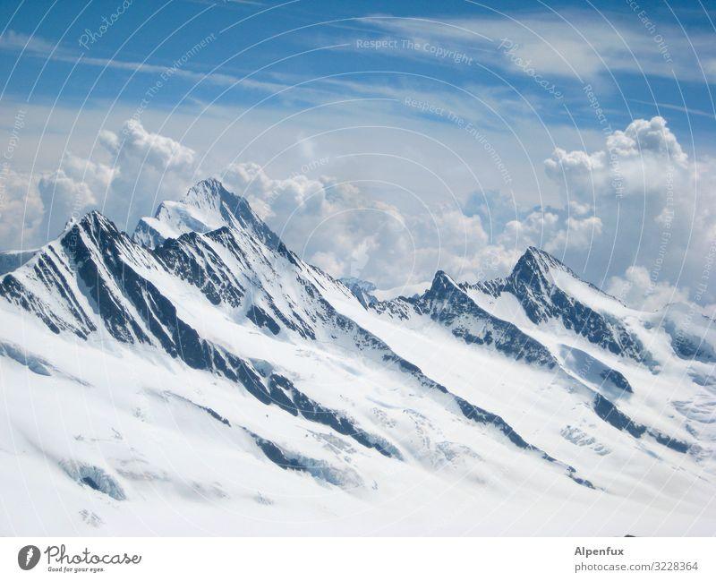 Calm Mountain Cold Lanes & trails Rock Contentment Success Adventure Beautiful weather Future Cool (slang) Climate Peak Hill Alps Snowcapped peak