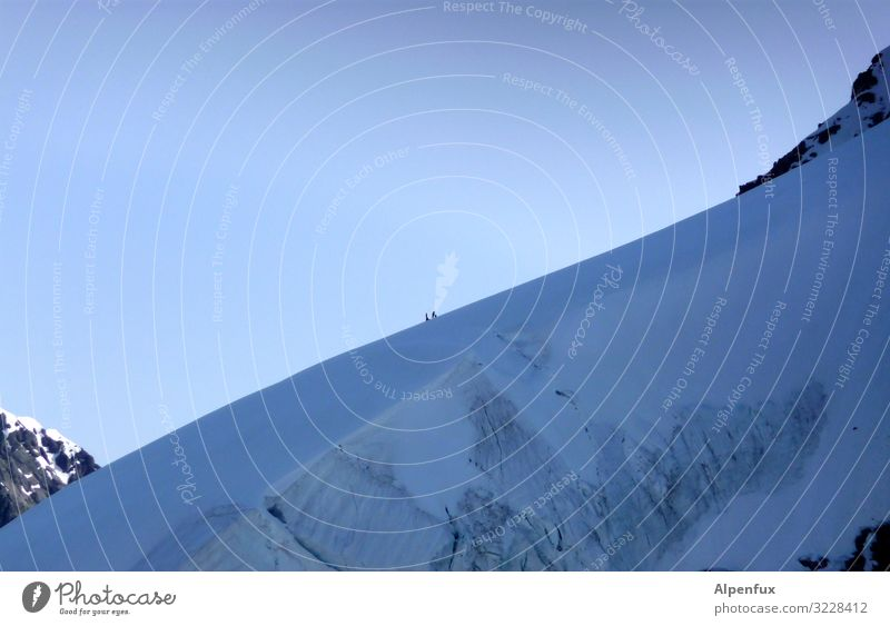 Dimensions | Mountaineer search image Climate change Beautiful weather Ice Frost Rock Alps Monk (mountain) Peak Snowcapped peak Glacier Cold Self-confident