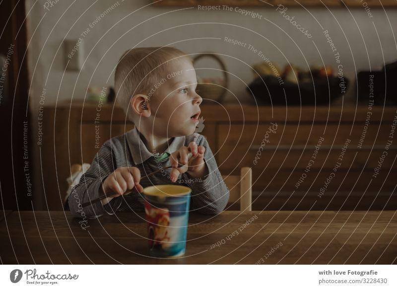 Human being Boy (child) Masculine Blonde Infancy Wait Kitchen Beverage Toddler Appetite Anticipation Lunch Mug 1 - 3 years