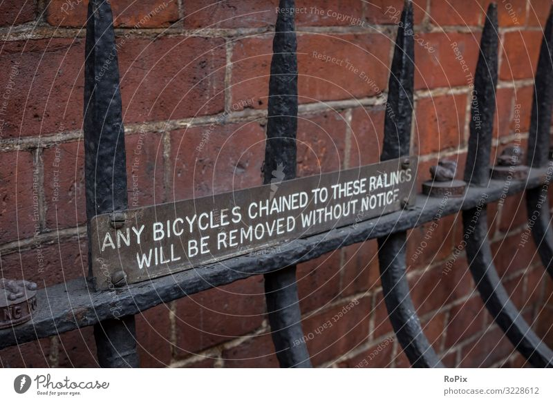 Any bicycles cained to these railings.. Lifestyle Style Design Living or residing House building Education Science & Research Work and employment Workplace