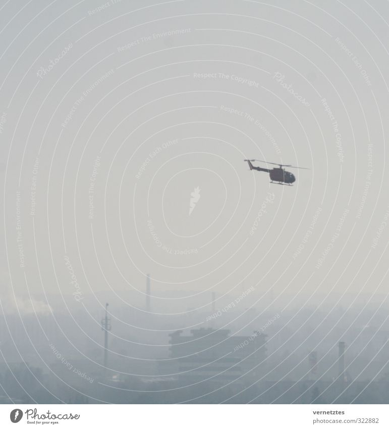 City Gray Flying Air Skyline Helicopter Rescue helicopter