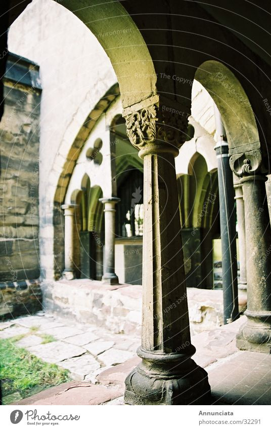 Religion and faith Column Monastery House of worship Medieval times Arcade
