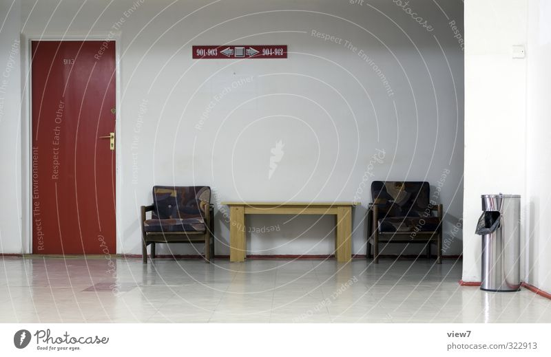Old Sadness Office Room Flat (apartment) Door Poverty Wait Lifestyle Living or residing Gloomy Table Simple Chair Moving (to change residence) Meeting