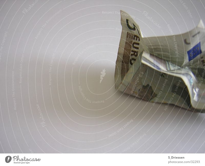 Green Brown Money Europe Might Broken Digits and numbers Things 5 Wrinkles Euro Bank note Euro symbol Partially visible