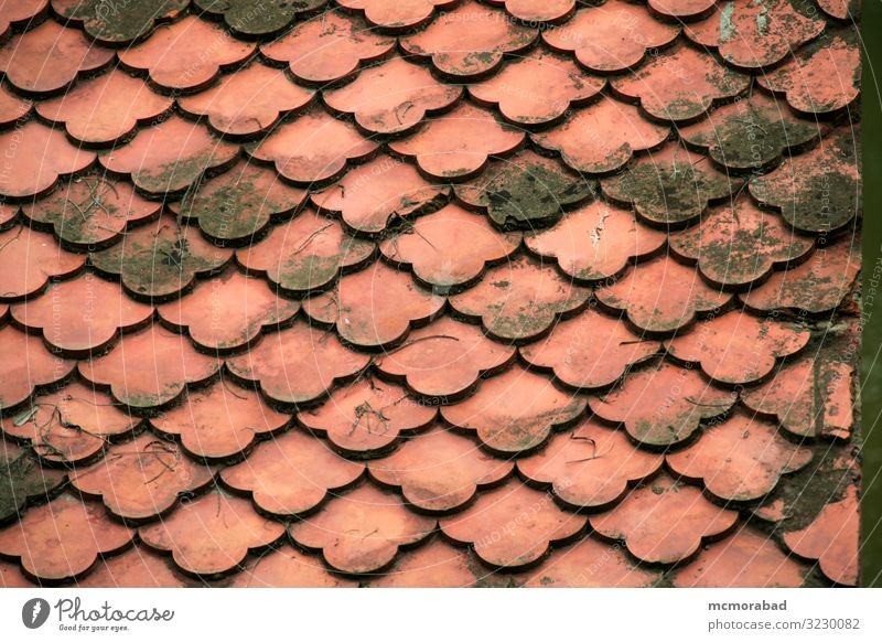 Red Roof Tiles Design Beautiful Arrangement configuration Repeating replicating geometric attractive stunning striking fine-looking Lovely pleasing Charming