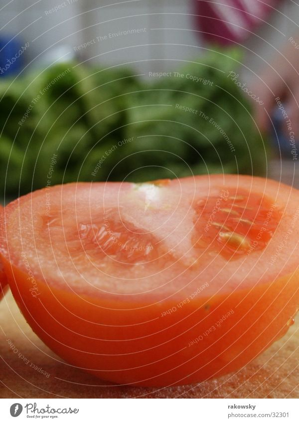 tomato Red Delicious Depth of field Juicy Gastronomy Healthy Tomato Lettuce Nutrition Vegetable