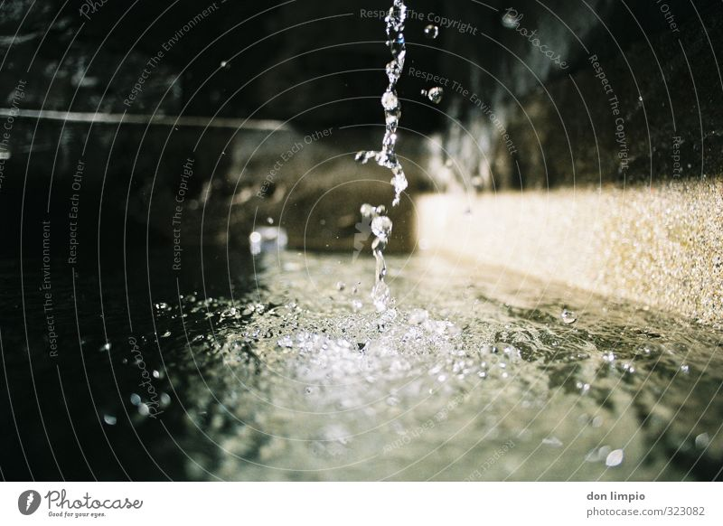 nobody canna cross it Cellar Water Drops of water Spring Fluid Fresh Near Wet Natural Clean Perspective Pure Surface of water Gutter Analog Splashing