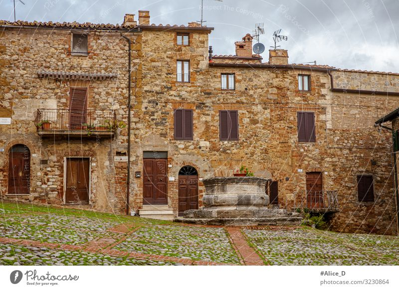 medieval village Rocca d'Orcia Tuscany Italy Vacation & Travel Winter Flat (apartment) House (Residential Structure) Europe Village Small Town Old town Deserted