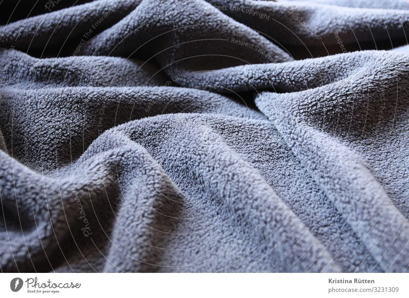 comfy blanket Waves Landscape Bad weather Cloth Cuddly Warmth Soft Gray Indifferent Comfortable day cover crease Folds Anthracite structure background
