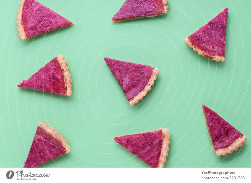 Cranberry pie slices background. Slices of pie pattern. Sweets Winter Autumn Delicious Seasons Tradition Dessert Festive Home-made Guest Minimal