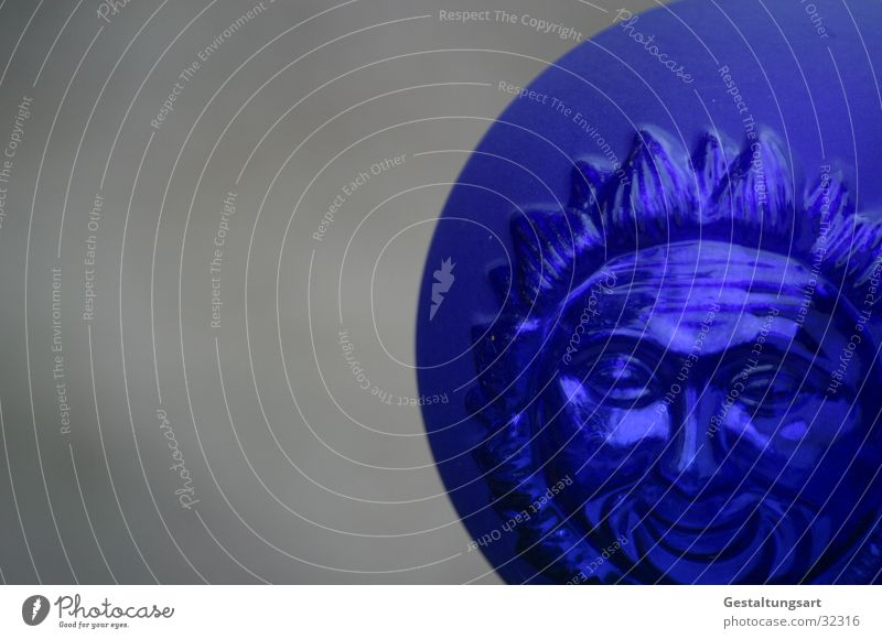 Sun Blue Face Laughter Gray Glass Round Near Obscure Radiation